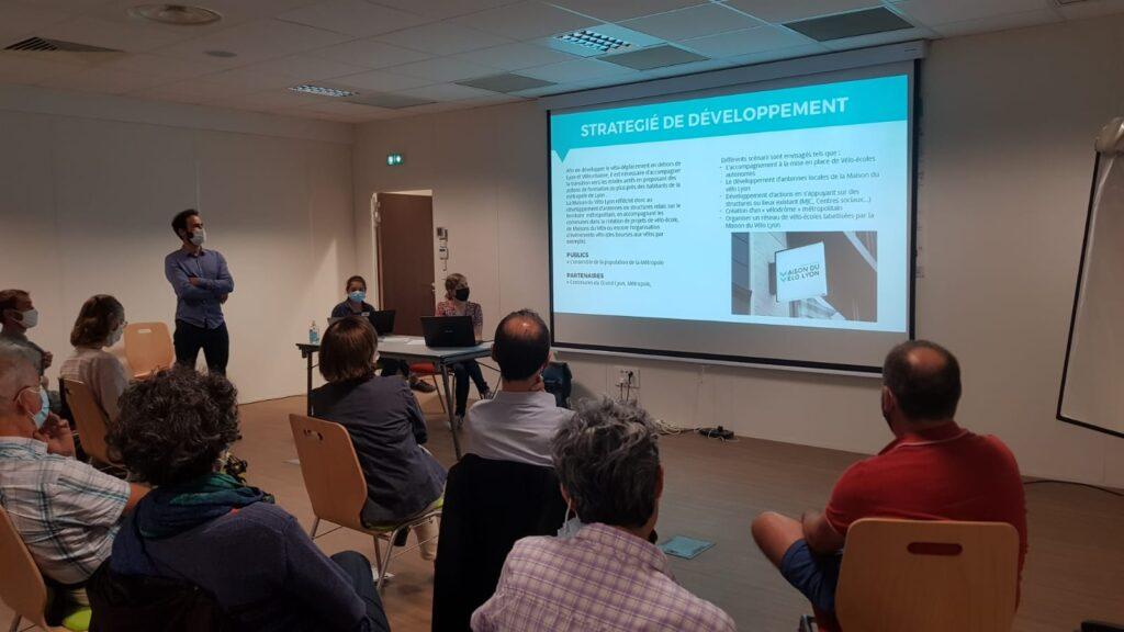 Damien Escaffre, nouveau directeur de l'association, présente les pistes de développement