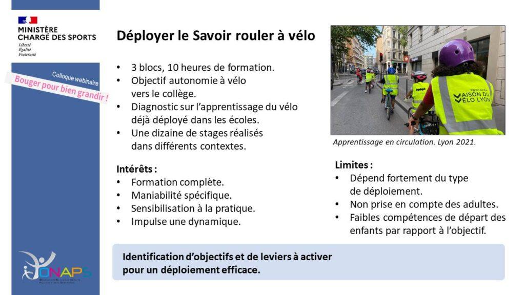 Déployer le Savoir rouler à vélo