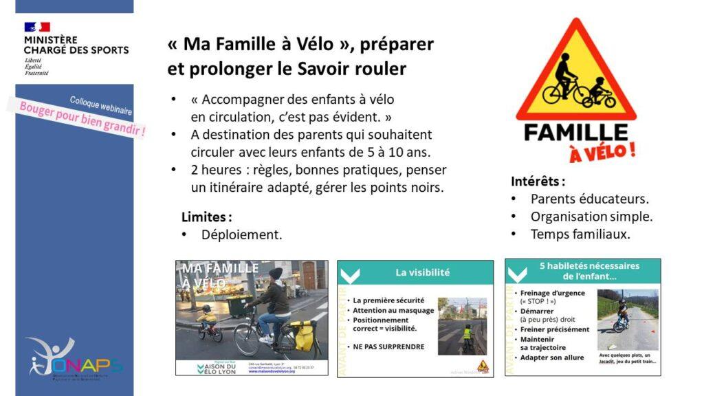 Programme «Ma Famille à vélo»