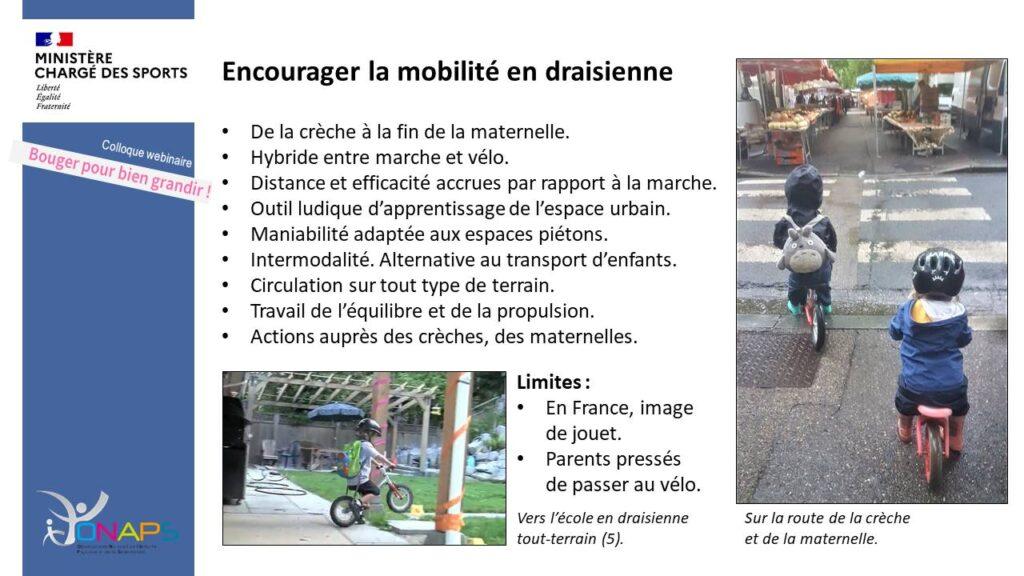 Encourager la mobilité en draisienne