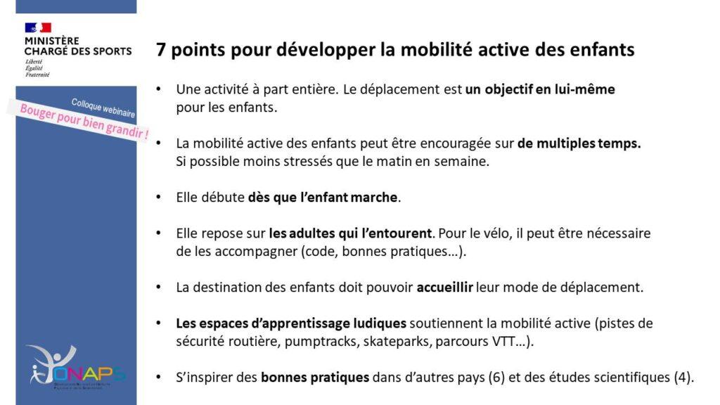7 points pour développer la mobilité active des enfants